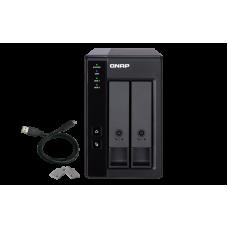 TR-002 Qnap |Storage DAS USB 3.1| com 2 baias | até 32 TB